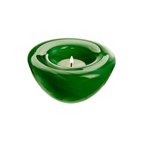 Kosta Boda Atoll Votive Grass Green