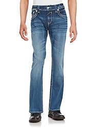 Rock Revival Blended Cotton Zipped Denim Pants Laken