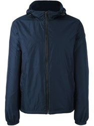 Michael Kors Hooded Zipped Jacket Blue