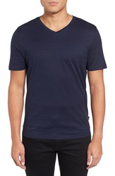 Boss Men's Tilson 50 V Neck T Shirt Blue