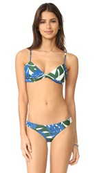 Mikoh Belize Triangle Bikini Top Vintage Tahiti Forest