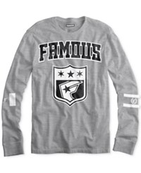 Famous Stars And Straps Men's Graphic Print T Shirt Heather Grey