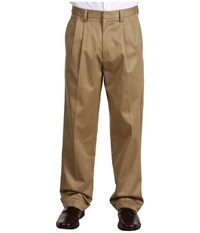 Dockers Signature Khaki D4 Relaxed Fit Pleated Dark Khaki Men's Casual Pants