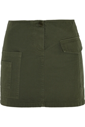 Band Of Outsiders Cotton Twill Mini Skirt