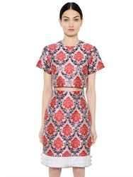 Mary Katrantzou Damask Lurex And Satin Jacquard Crop Top