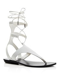 Kendall And Kylie Kendall Kylie Faris Flat Gladiator Sandals White
