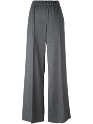 Odeeh Wide Leg Tailored Trousers Grey