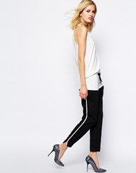 Supertrash Soft Tailored Pant With Tie Waist Black