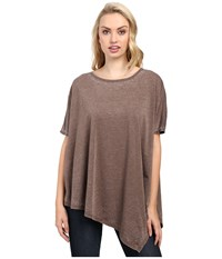 Jag Jeans Isabelle Poncho Tee Burnout Jersey Truffle Women's T Shirt Brown