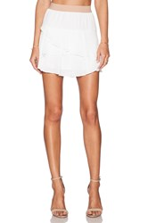 Bcbgmaxazria Ashleah Mini Skirt White