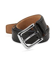 Cole Haan Perforated Leather Belt Chocolate