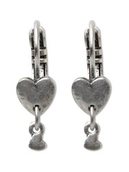 White Stuff Colette Heart Drop Earring Silver