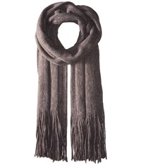 Free People Kolby Brushed Scarf Graphite Scarves Gray