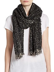 Saks Fifth Avenue Woven Wrapped In Scarf Black