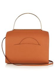 Roksanda Ilincic Signature Leather Bowling Bag Tan