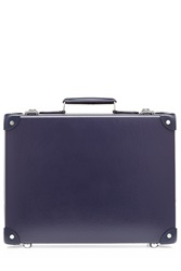 Globe Trotter Centenary 16 Slim Attache With Leather Blue