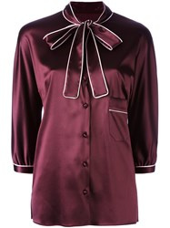 Dolce And Gabbana Pussy Bow Shirt Red