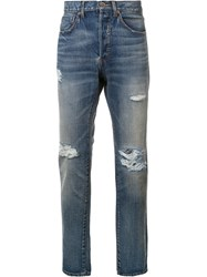 321 Ripped Detail Jeans Blue