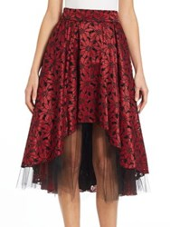 Abs By Allen Schwartz Lace And Tulle Hi Lo Skirt