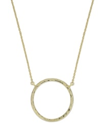 Studio Silver 18K Gold Over Sterling Silver Hammered Circle Pendant Necklace