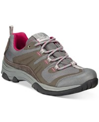 Bare Traps Jozie Lace Up Hiking Shoes Women's Shoes Dark Grey Pink