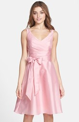 Women's Alfred Sung Satin Fit And Flare Dress