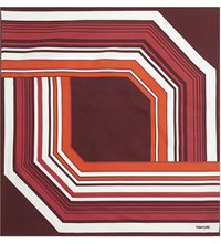 Tom Ford Contrast Graphic Silk Pocket Square Red