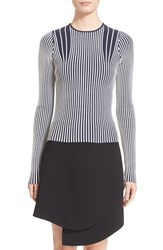 Women's Opening Ceremony 'Contrast Vert Stripe' Fitted Top