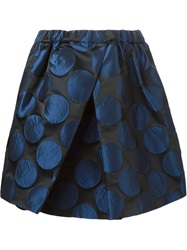 N 21 N.21 Pleated Polka Dot Skirt Blue