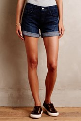 Pilcro Denim Roll Up Shorts Dark Denim
