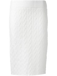 Guild Prime Cable Knit Skirt White