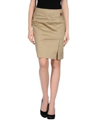 Cristinaeffe Knee Length Skirts Military Green