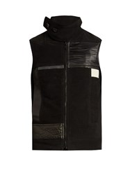 Rick Owens Multi Patch Brushed Cotton Gilet Black Multi