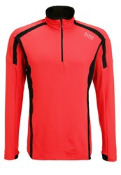 Gore Running Wear Air Sports Shirt Red Black