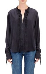 Helmut Lang Fringed Silk Tunic Colorless