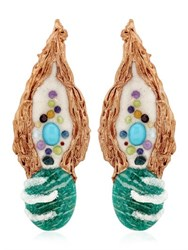Opposite Jewels Green Amazonite Earrings