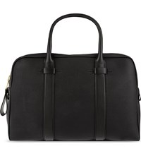 Tom Ford Buckley Small Leather Trapeze Briefcase Black