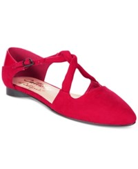 Callisto Ailene Pointed Toe Flats Women's Shoes Red