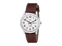 Timex Easy Reader Brown Leather Watch T20041 Silver Watches