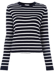 Red Valentino Striped Jumper Blue