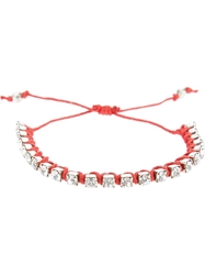 Riccardo Forconi Crystal Bracelet Red