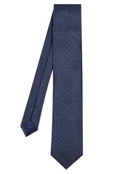 Brioni Geometric Chain Link Silk Tie Blue Multi