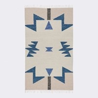 Ferm Living Kelim Blue Triangles Rug