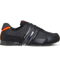 Adidas Y3 Sprint Low Top Trainers Black Orange