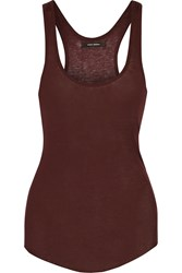 Isabel Marant Timi Stretch Cotton Jersey Tank Red