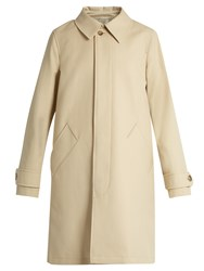 A.P.C. Dinard Cotton And Wool Blend Coat Beige