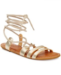 Roxy Sphinx Lace Up Gladiator Sandals Women's Shoes Gold