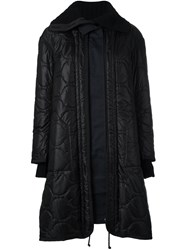 Sacai Quilted Parka Black