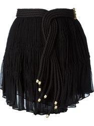 Jay Ahr Rope Detail Mini Skirt Black
