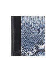 Class Roberto Cavalli Small Leather Goods Wallets Men Blue
